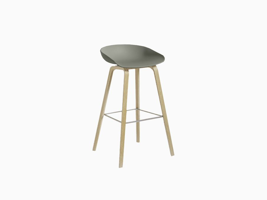Banqueta-About-a-Stool-Verde-com-base-Matte