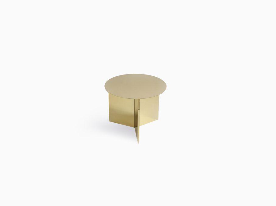 Mesa-Slit-Redonda-Dourada