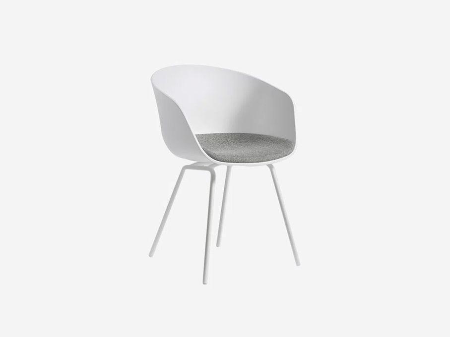 Cadeira-About-a-Chair-2606-Branca-com-Assento-Cinza